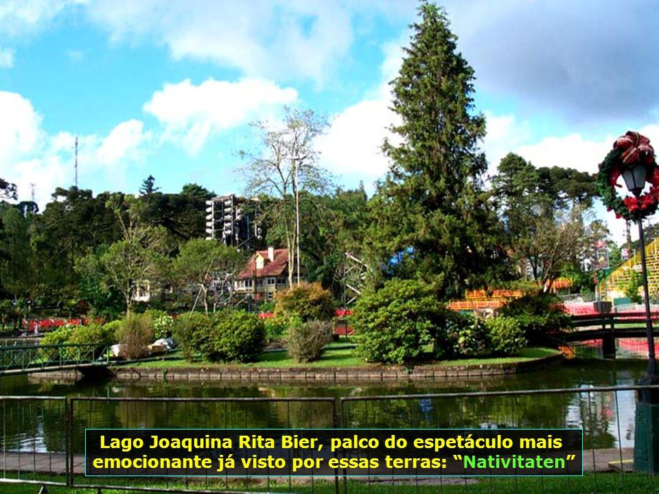 Lago Joaquina Rita Bier, palco do espetáculo mais