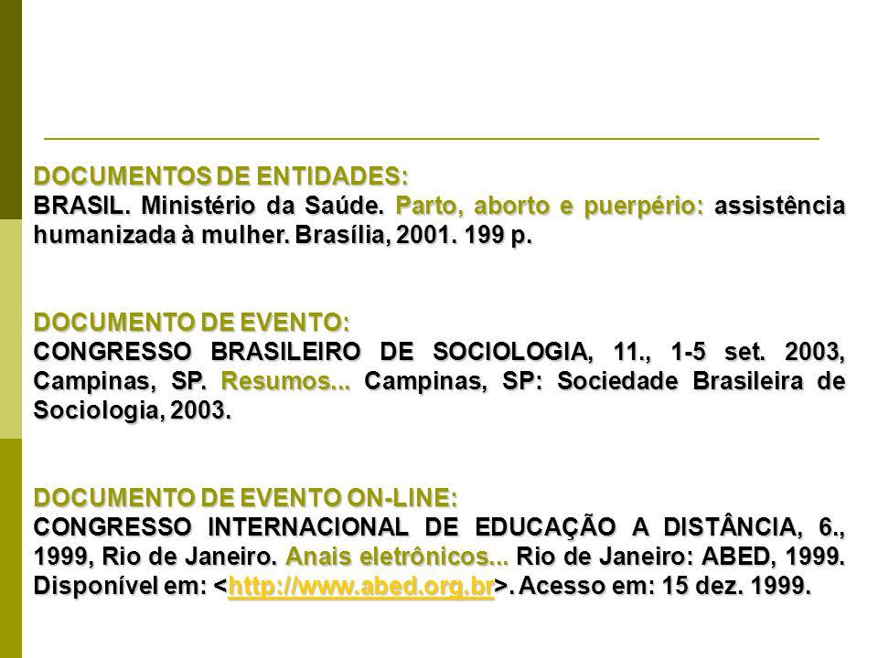 DOCUMENTOS DE ENTIDADES: