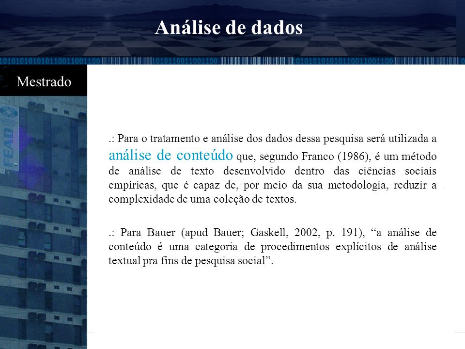 10:09 Análise de dados.