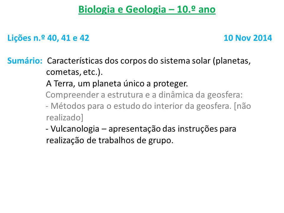 Biologia e Geologia – 10.º ano