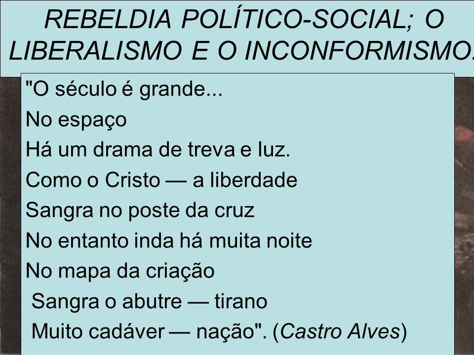 REBELDIA POLÍTICO-SOCIAL; O LIBERALISMO E O INCONFORMISMO: