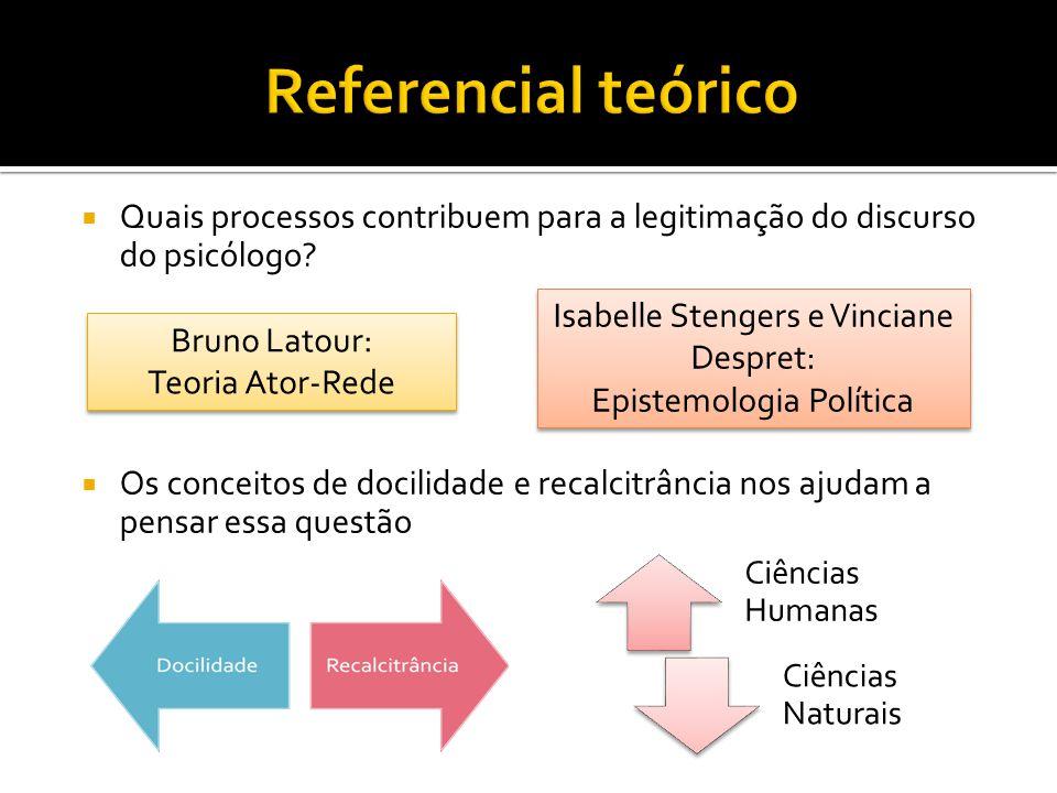 Referencial teórico Quais processos contribuem para a legitimação do discurso do psicólogo