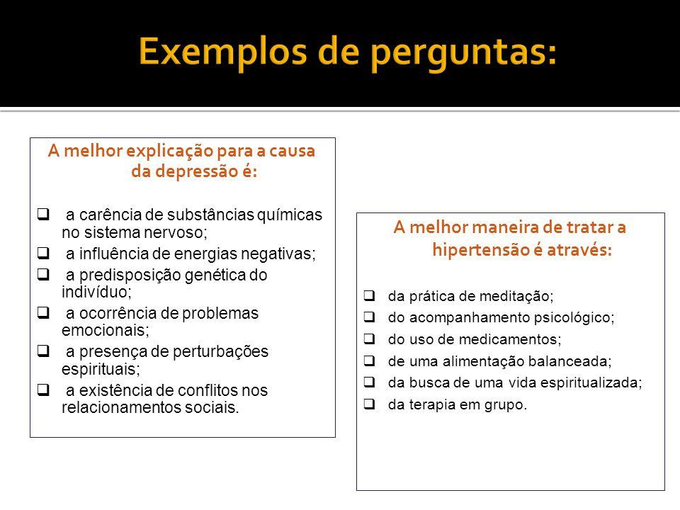 Exemplos de perguntas: