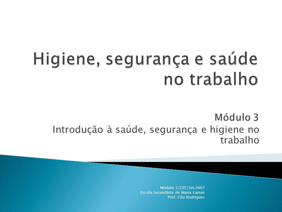 Higiene, segurança e saúde no trabalho