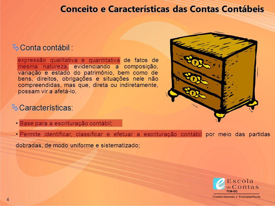 Conceito e Características das Contas Contábeis
