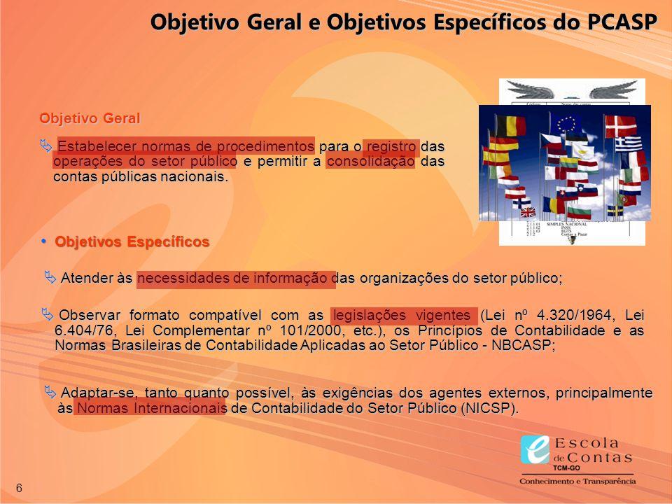 Objetivo Geral e Objetivos Específicos do PCASP