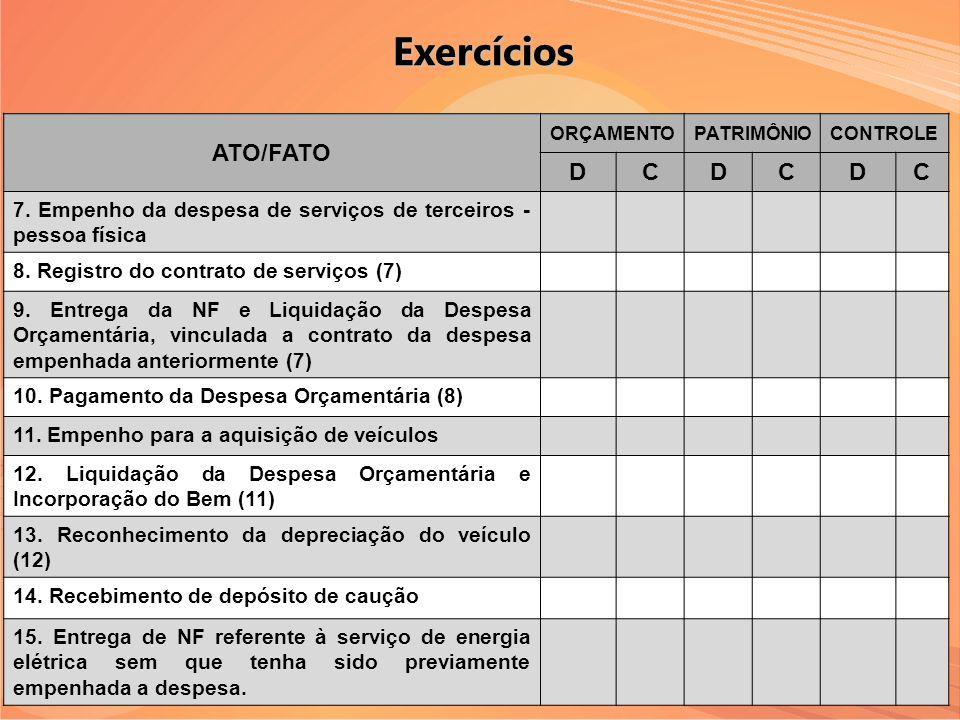 Exercícios ATO/FATO D C
