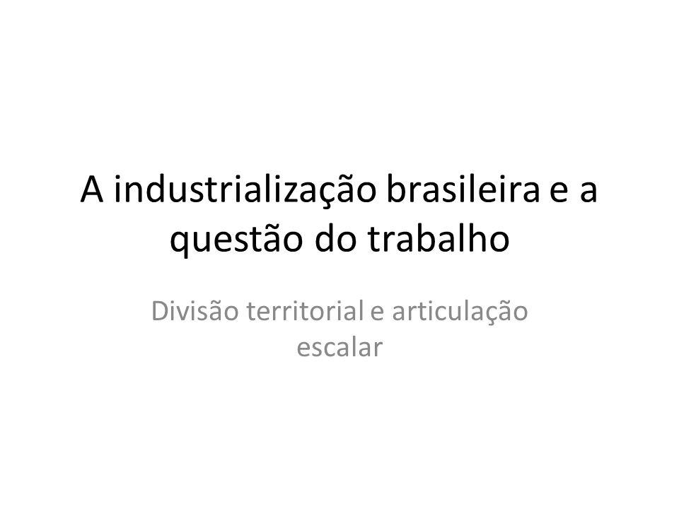 A industrialização brasileira e a questão do trabalho