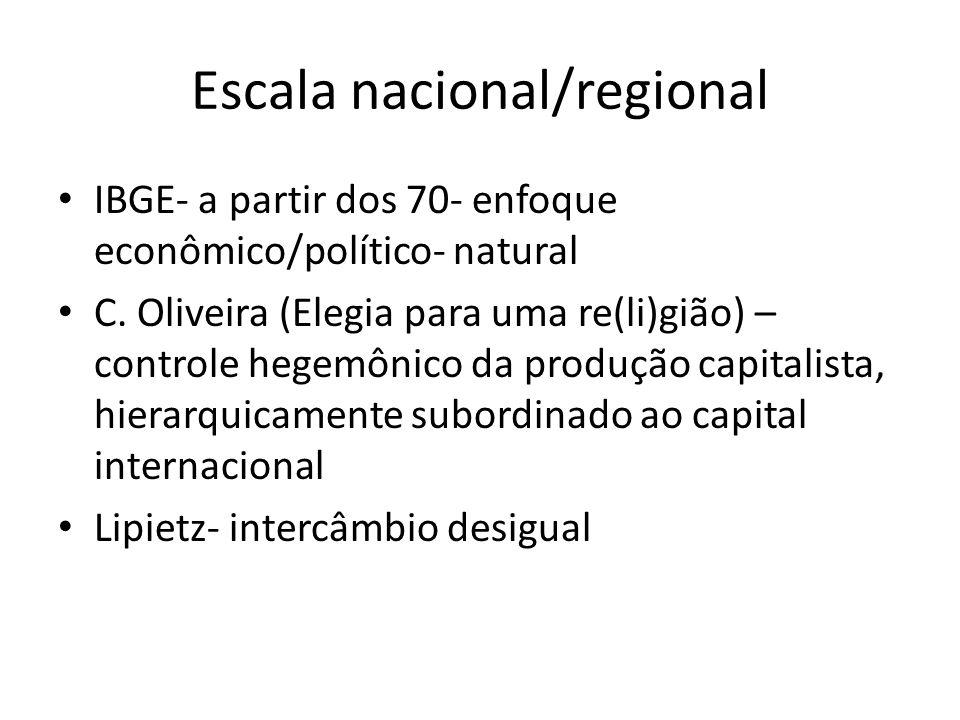 Escala nacional/regional