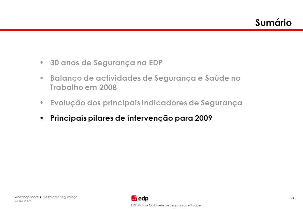Principais pilares de intervenção para 2009