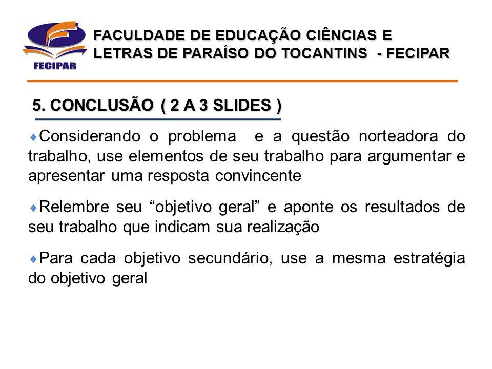 FACULDADE DE EDUCAÇÃO CIÊNCIAS E LETRAS DE PARAÍSO DO TOCANTINS - FECIPAR