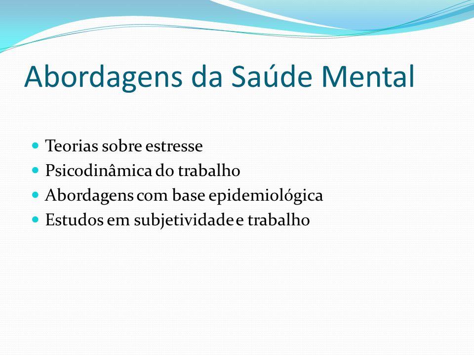 Abordagens da Saúde Mental