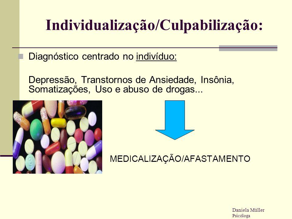 Individualização/Culpabilização: