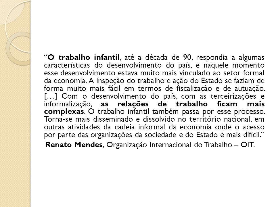 Renato Mendes, Organização Internacional do Trabalho – OIT.
