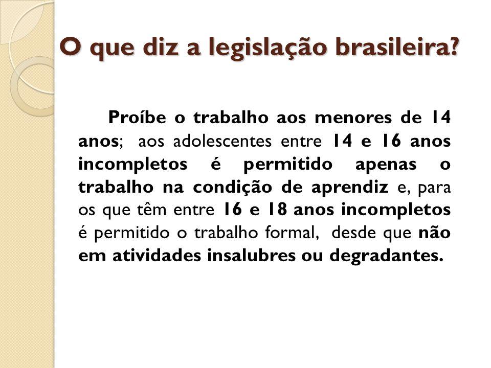 O que diz a legislação brasileira