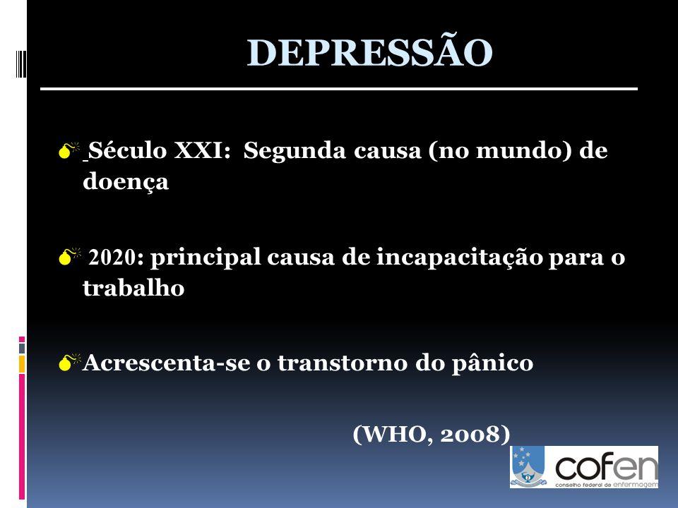 DEPRESSÃO 2020: principal causa de incapacitação para o trabalho