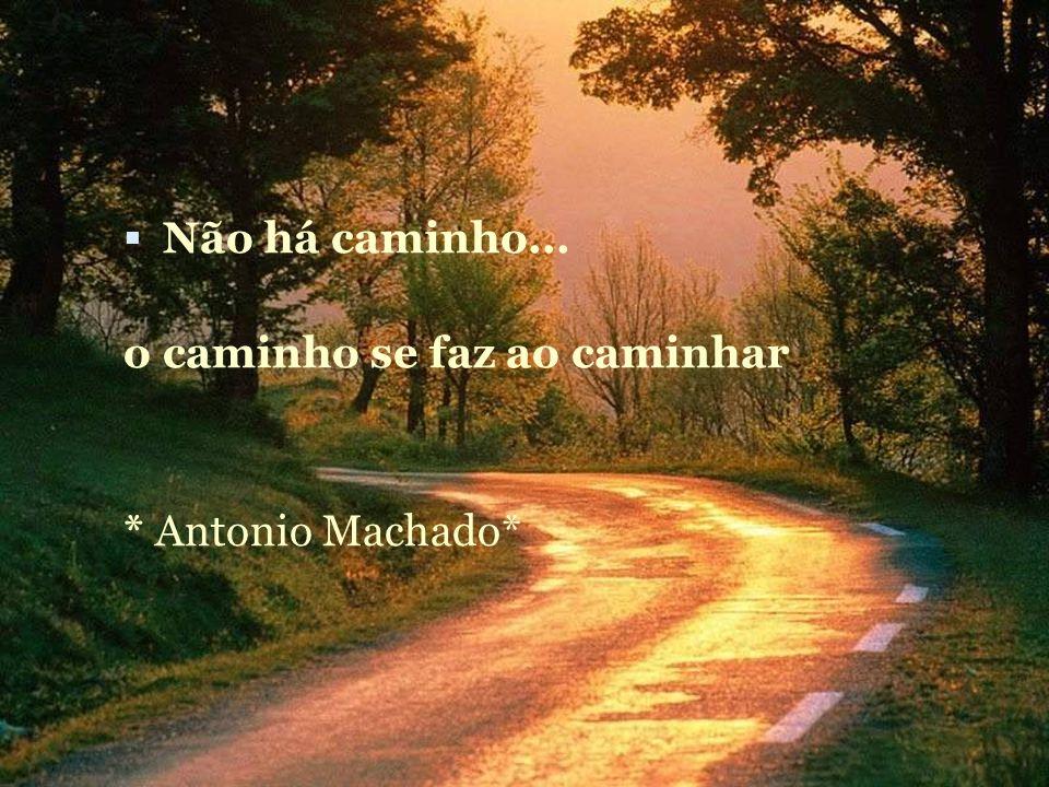 Não há caminho... o caminho se faz ao caminhar * Antonio Machado*