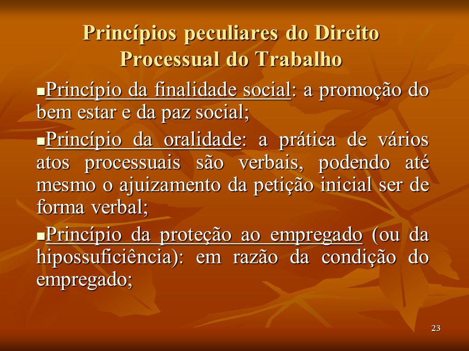 Princípios peculiares do Direito Processual do Trabalho