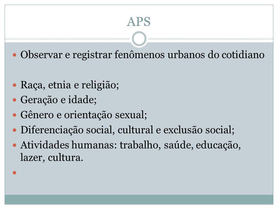 APS Observar e registrar fenômenos urbanos do cotidiano