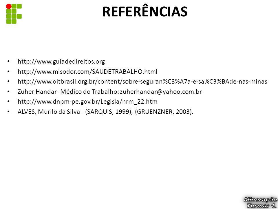 REFERÊNCIAS http://www.guiadedireitos.org
