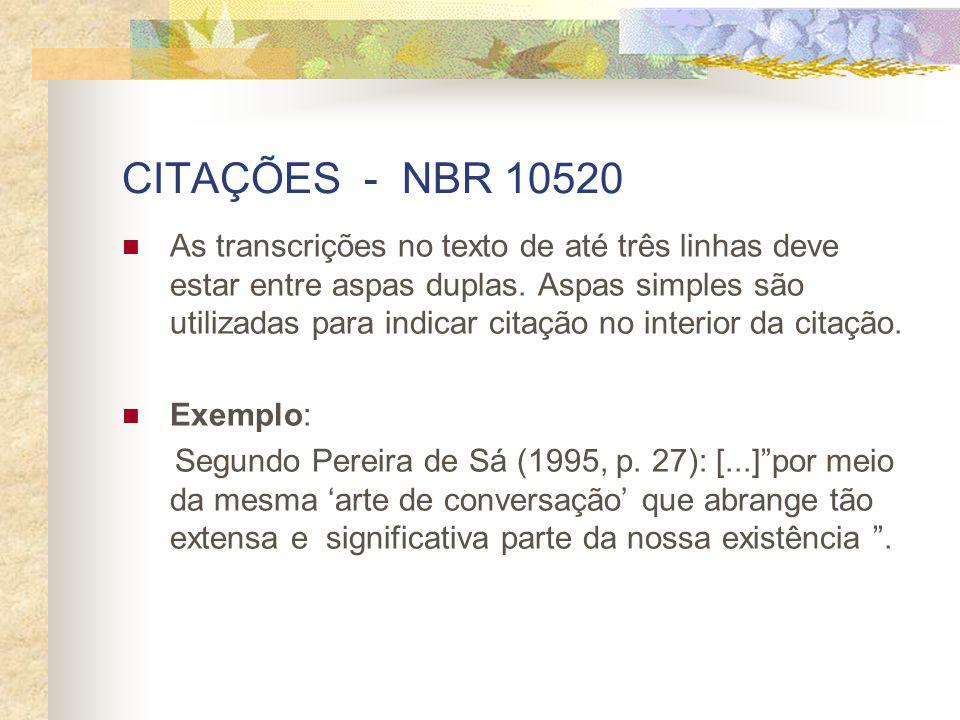CITAÇÕES - NBR 10520
