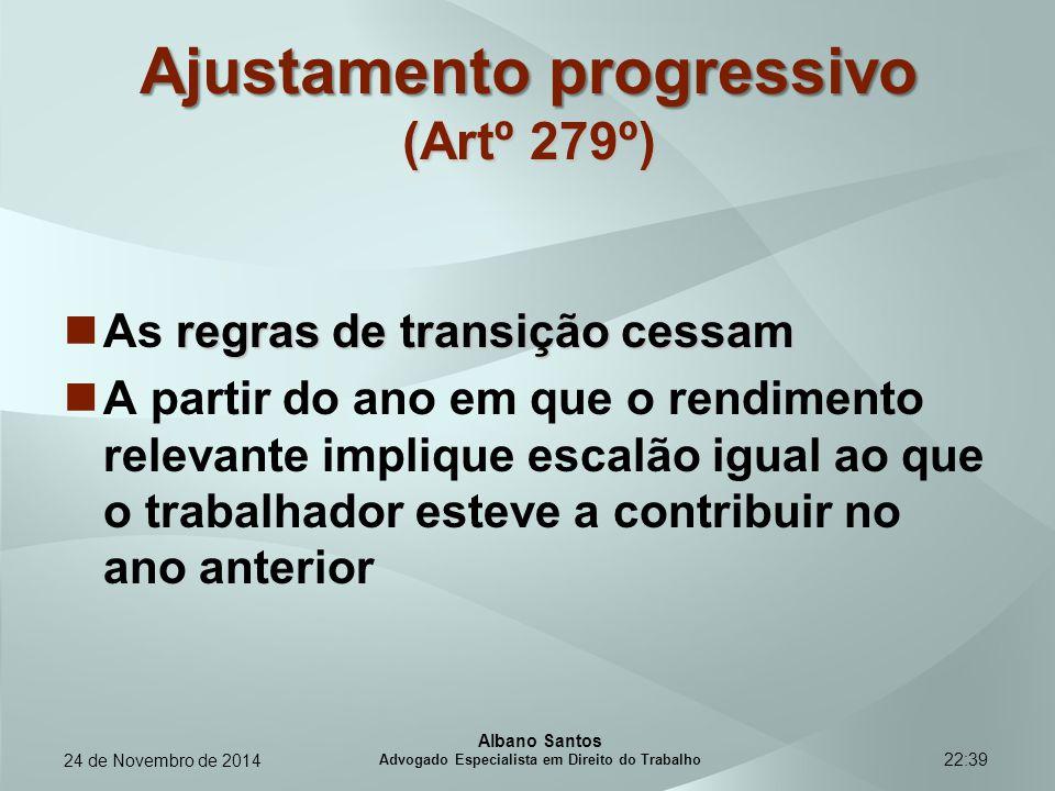 Ajustamento progressivo (Artº 279º)