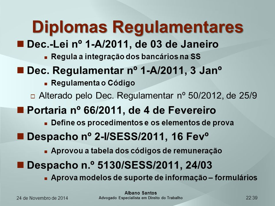 Diplomas Regulamentares