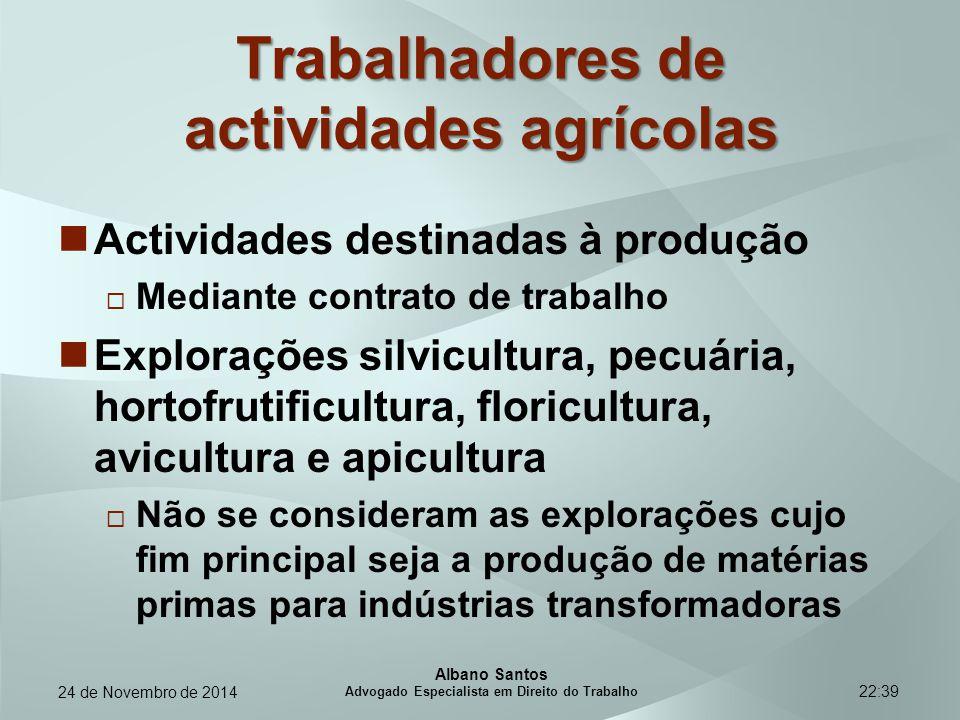 Trabalhadores de actividades agrícolas