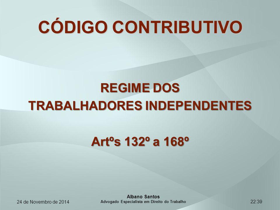 CÓDIGO CONTRIBUTIVO REGIME DOS TRABALHADORES INDEPENDENTES