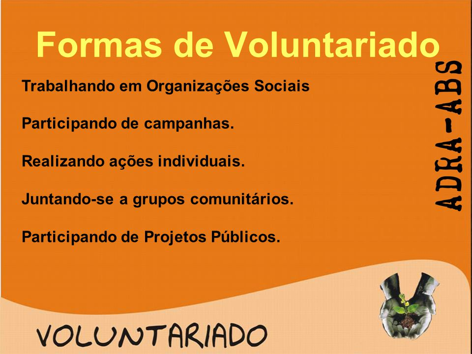 Formas de Voluntariado