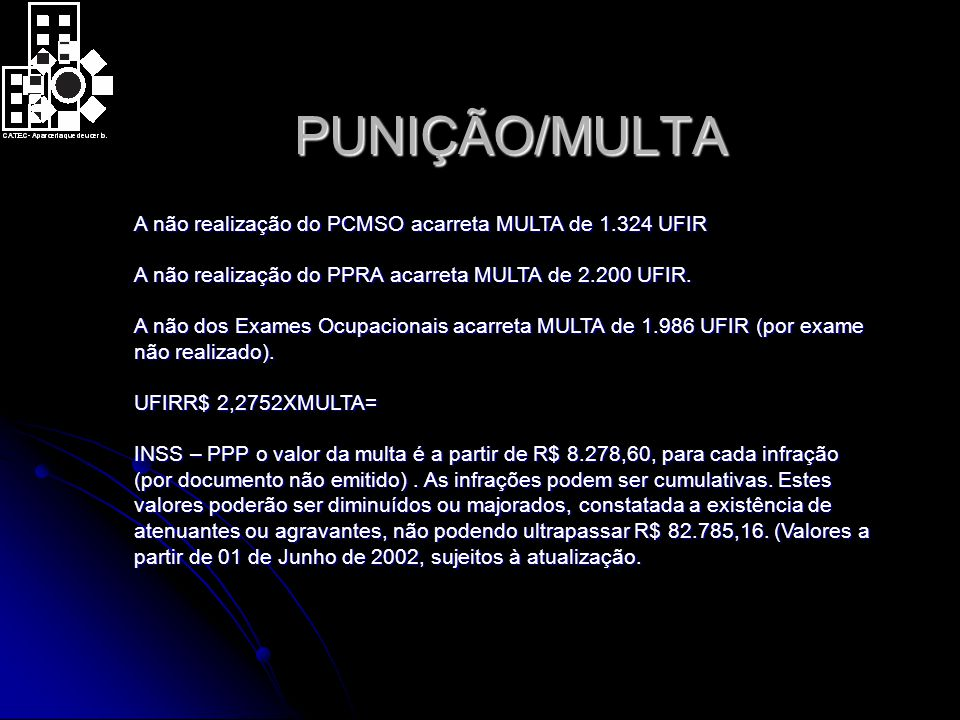 PUNIÇÃO/MULTA
