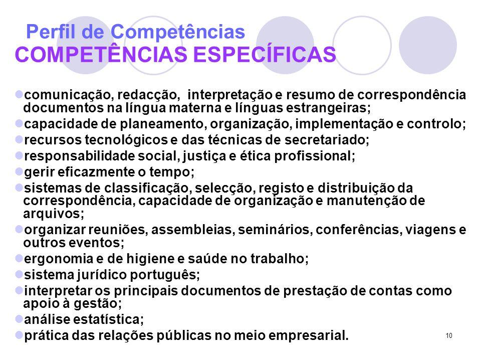 Perfil de Competências