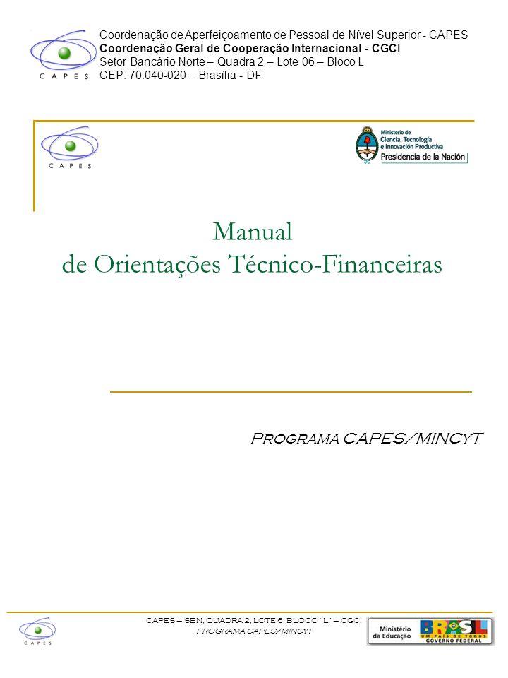 Manual de Orientações Técnico-Financeiras