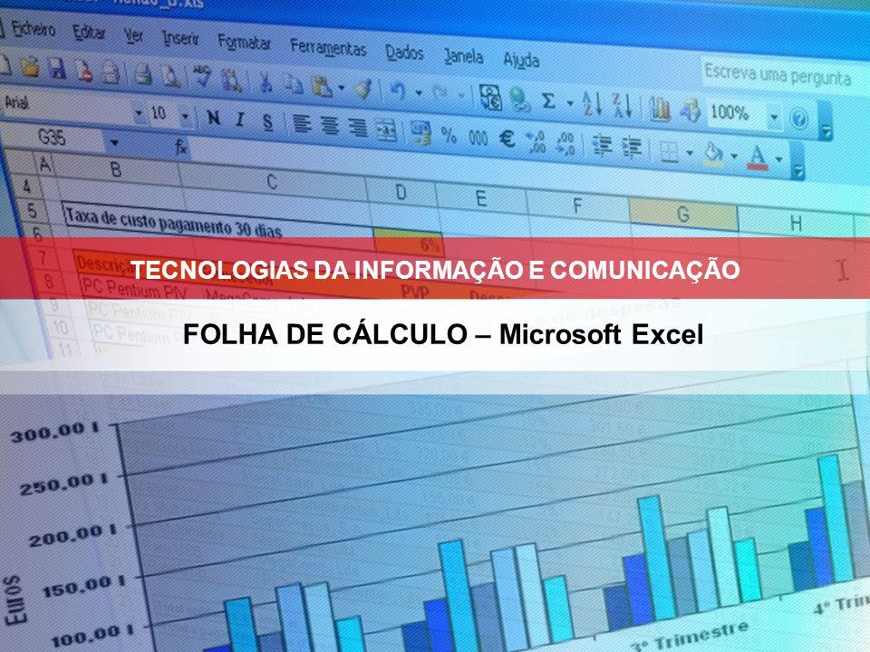 FOLHA DE CÁLCULO – Microsoft Excel