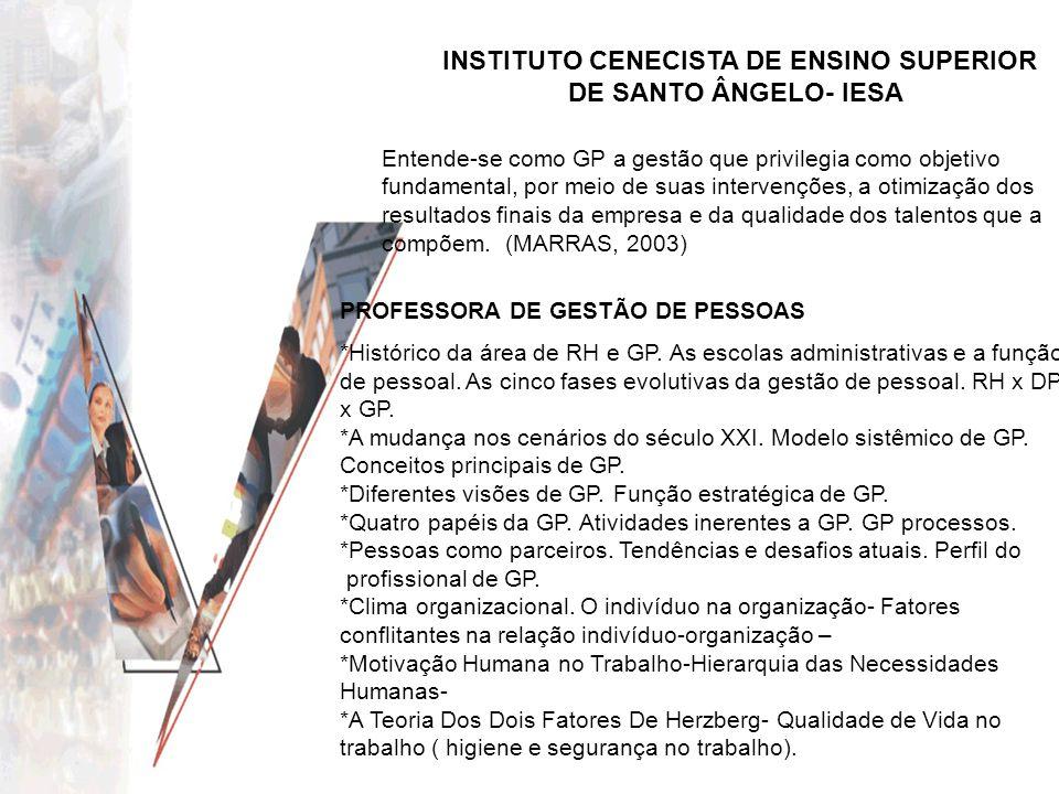 INSTITUTO CENECISTA DE ENSINO SUPERIOR DE SANTO ÂNGELO- IESA