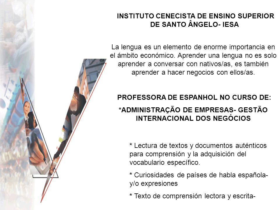 *ADMINISTRAÇÃO DE EMPRESAS- GESTÃO INTERNACIONAL DOS NEGÓCIOS