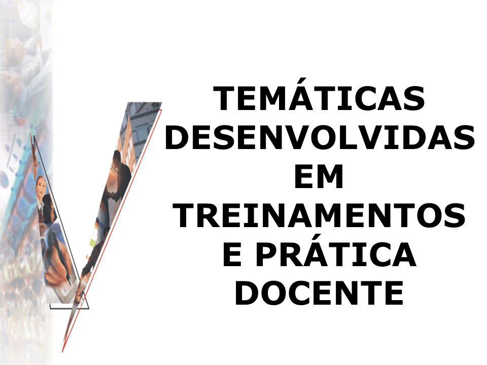 TEMÁTICAS DESENVOLVIDAS EM TREINAMENTOS E PRÁTICA DOCENTE