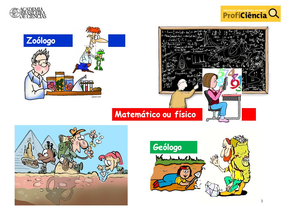 Geólogo Matemático ou físico Zoólogo