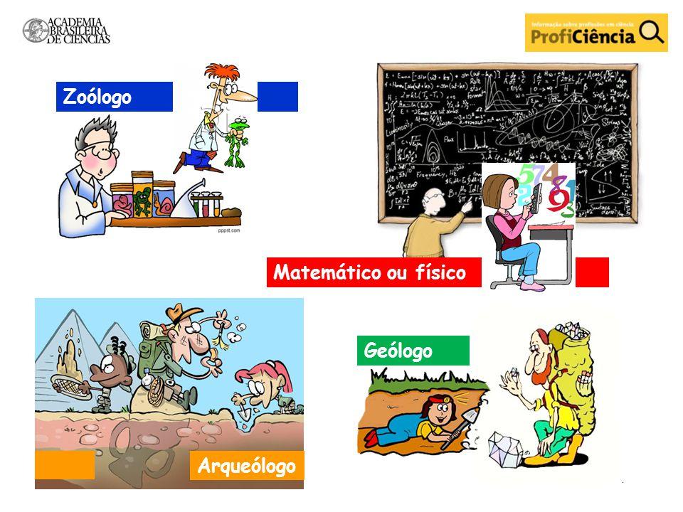 Arqueólogo Geólogo Matemático ou físico Zoólogo