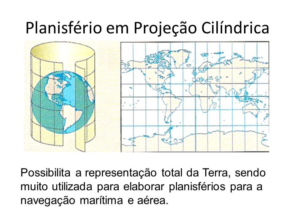 Planisfério em Projeção Cilíndrica