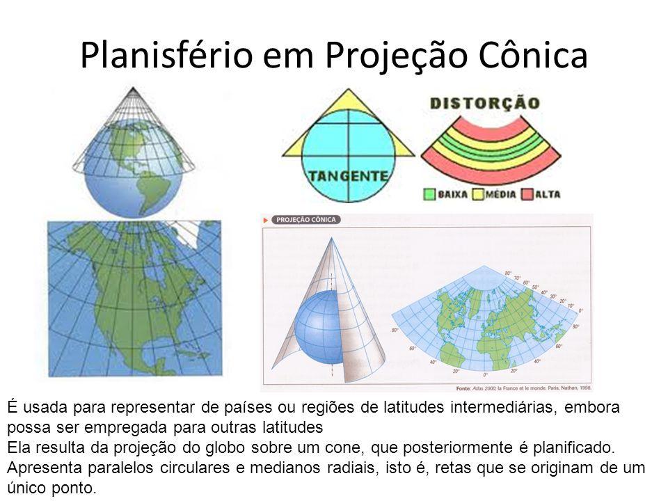 Planisfério em Projeção Cônica