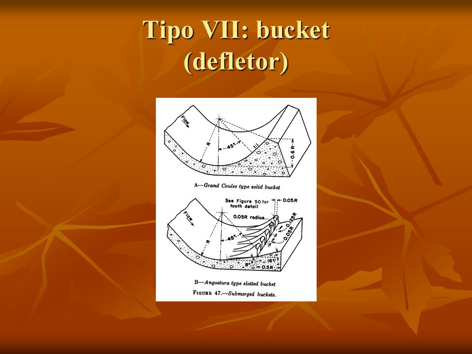 Tipo VII: bucket (defletor)