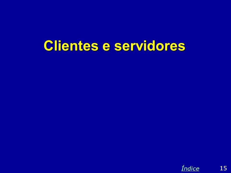 Clientes e servidores Índice 15