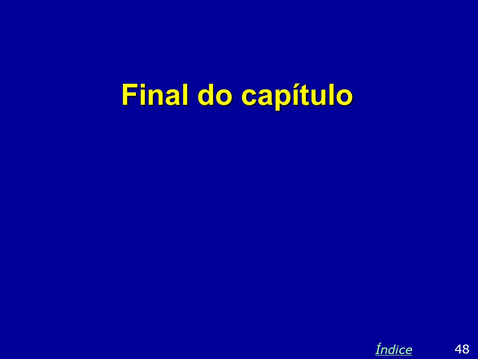 Final do capítulo Índice 48