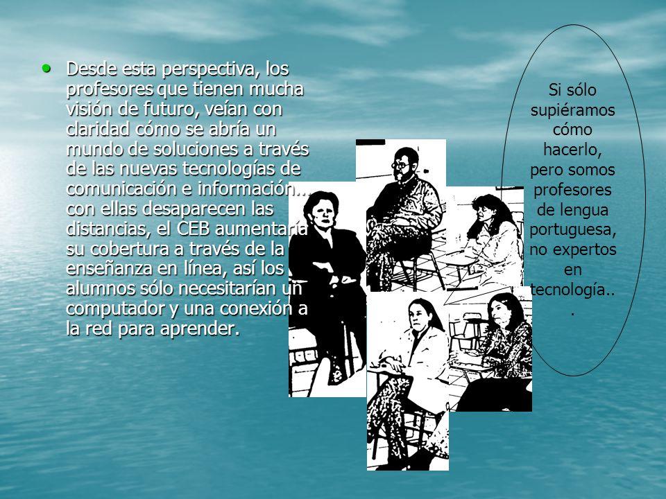 Si sólo supiéramos cómo hacerlo, pero somos profesores de lengua portuguesa, no expertos en tecnología...