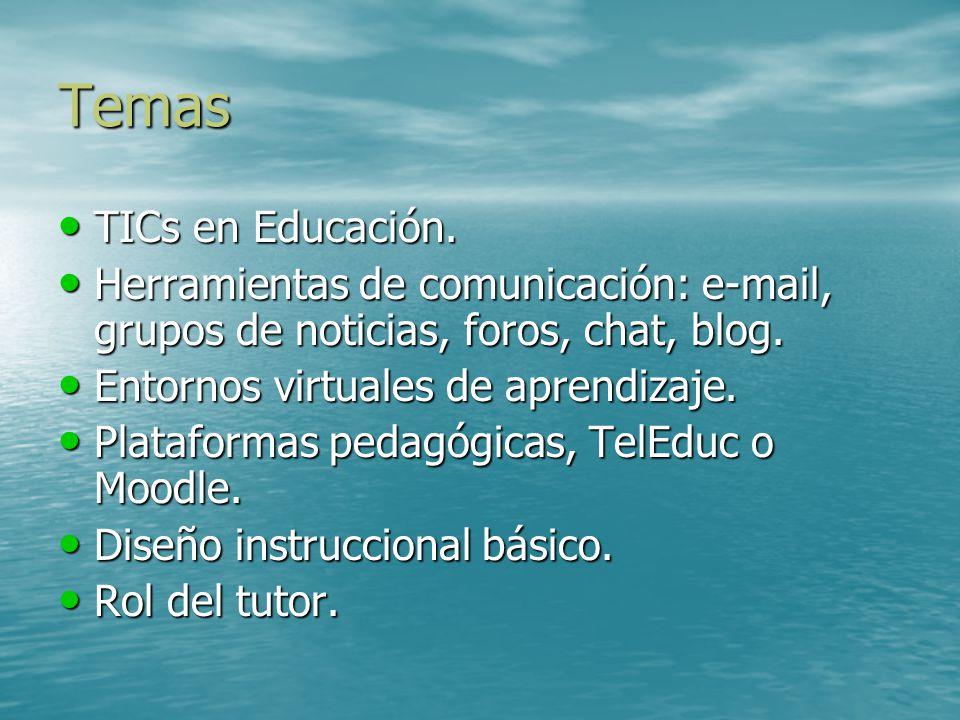 Temas TICs en Educación.