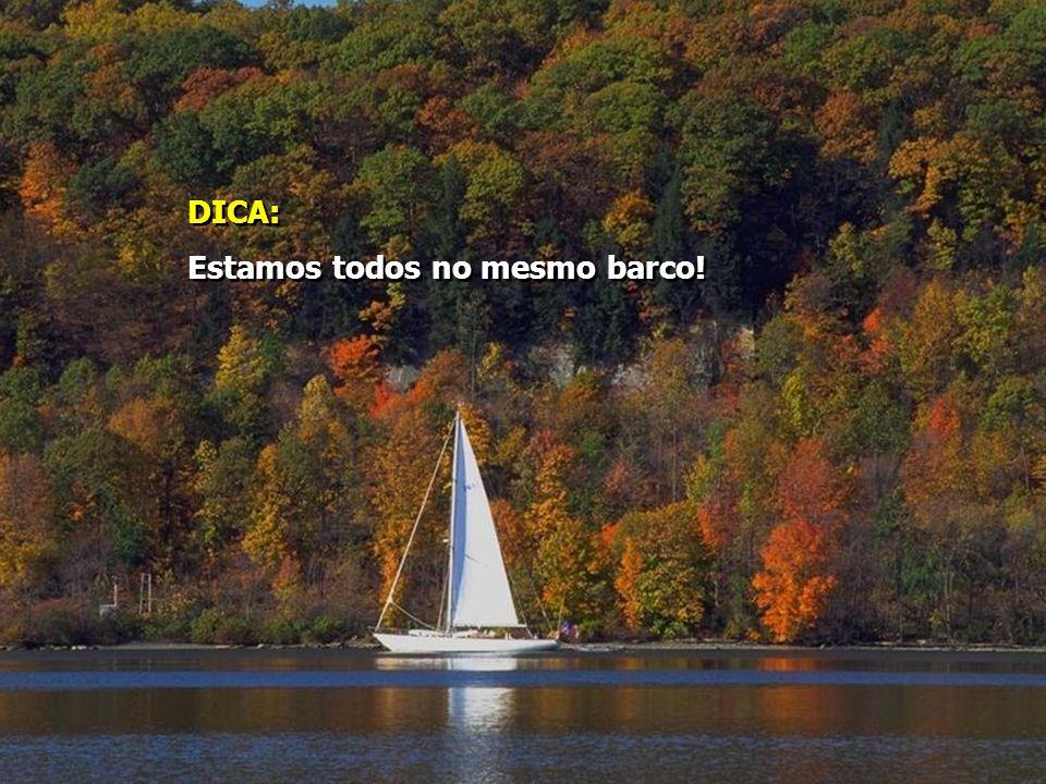 DICA: Estamos todos no mesmo barco!