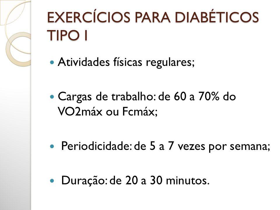 EXERCÍCIOS PARA DIABÉTICOS TIPO I