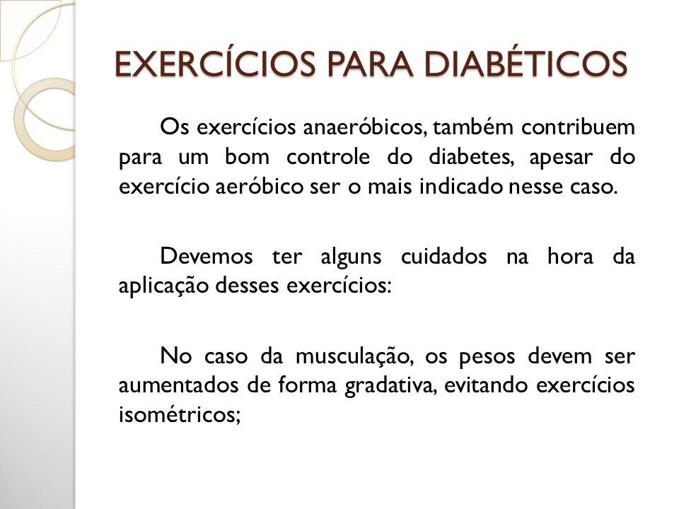 EXERCÍCIOS PARA DIABÉTICOS