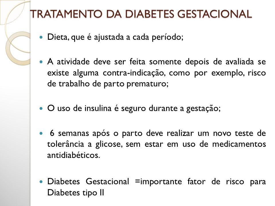 TRATAMENTO DA DIABETES GESTACIONAL